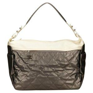 Chanel Metallic Grey Paris-Biarritz Weekender
